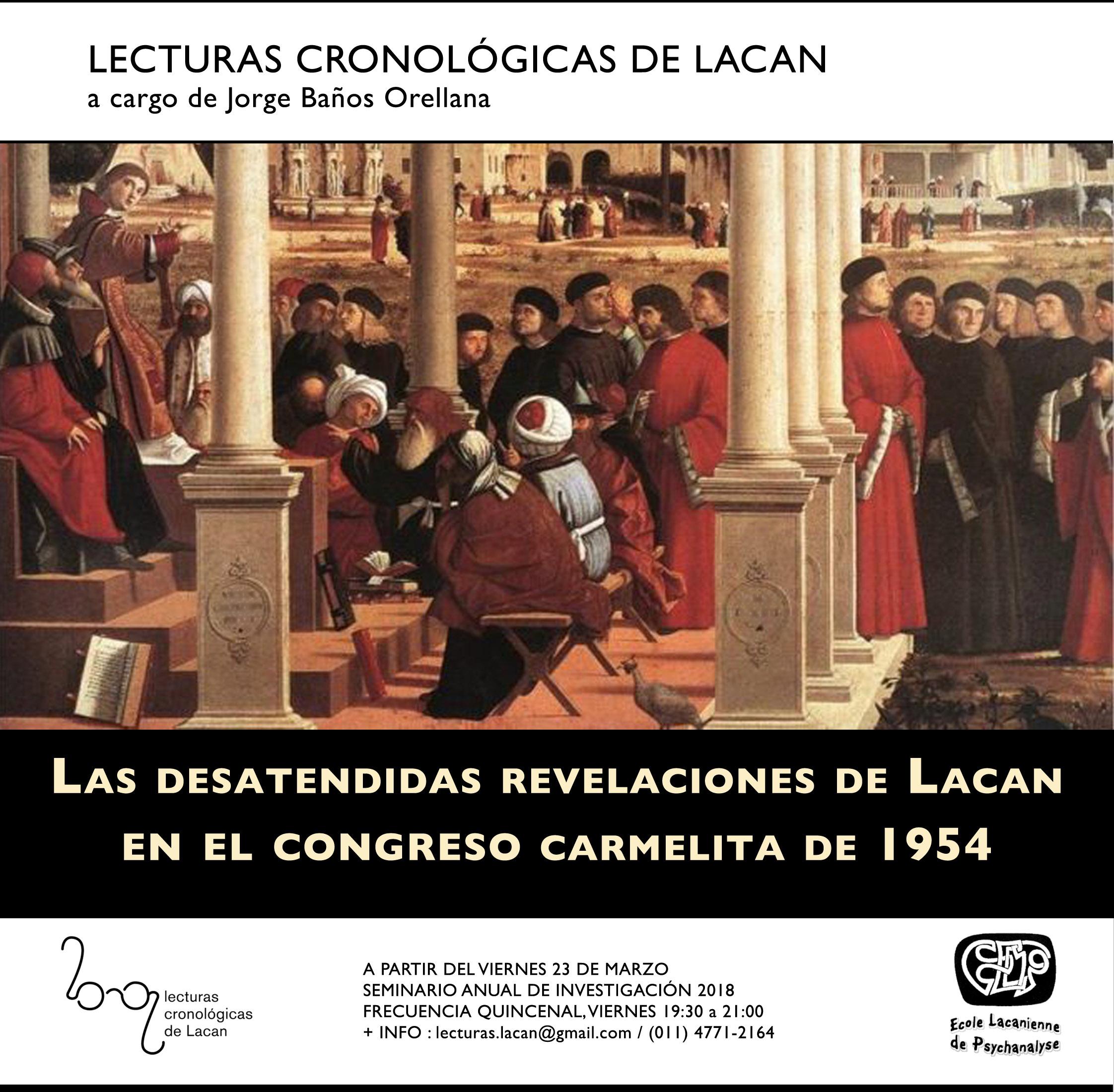 LECTURAS CRONOLÓGICAS DE LACAN