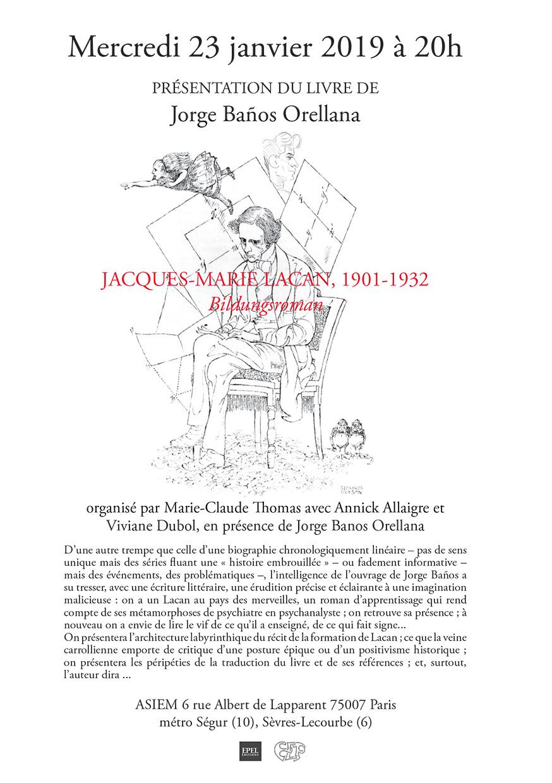 «Jacques-Marie Lacan, 1901-1932. Bildungsroman»